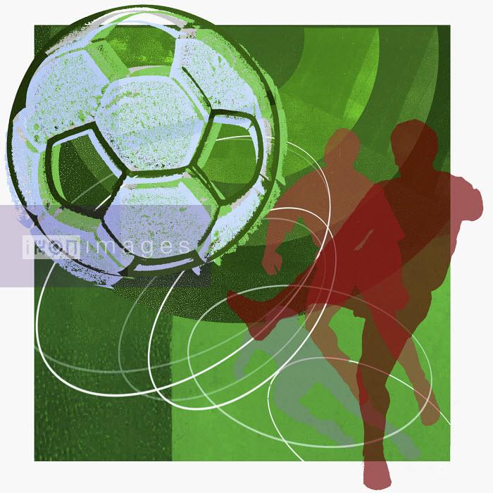 Man kicking soccer ball - Man kicking soccer ball - Sarah Jones