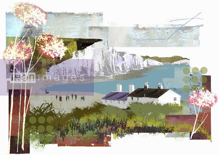 Collage of Sussex coastline - Collage of Sussex coastline - Sarah Jones