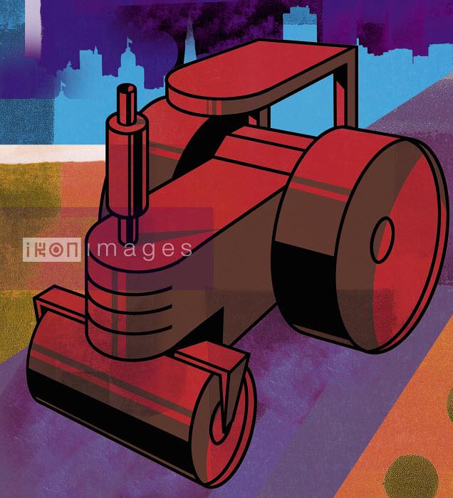 Red steamroller - Red steamroller - Sarah Jones