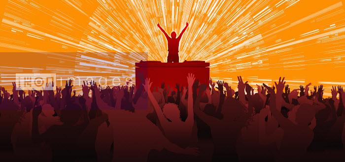 Crowd cheering performer in nightclub - Crowd cheering performer in nightclub - Magictorch