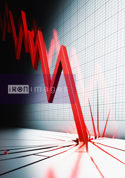 Line graph crashing into and cracking floor - Line graph crashing into and cracking floor - Magictorch