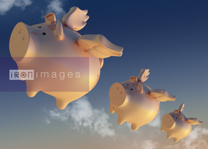 Flying piggy banks - Flying piggy banks - Magictorch