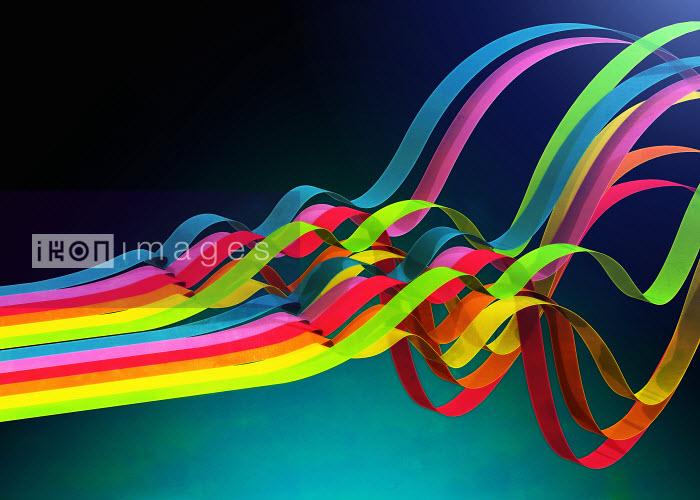 Colorful ribbons rippling - Colorful ribbons rippling - Magictorch