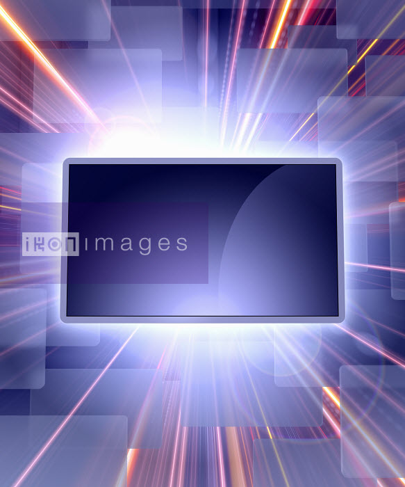 Screen with light trails - Screen with light trails - Magictorch