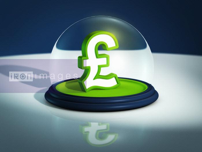 British pound symbol in snow globe - British pound symbol in snow globe - Magictorch