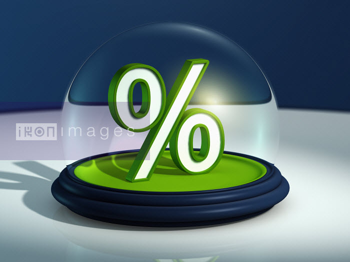 Percentage sign in snow globe - Percentage sign in snow globe - Magictorch