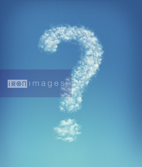 Clouds forming question mark in blue sky - Clouds forming question mark in blue sky - Magictorch
