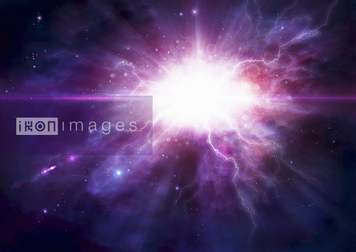Exploding light in outer space - Exploding light in outer space - Magictorch