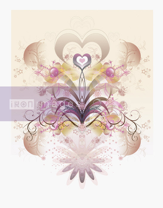 Floral, heart-shaped abstract pattern - Floral, heart-shaped abstract pattern - Jason Jaroslav Cook