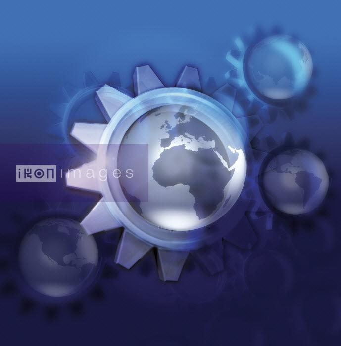 Globe in centre of cogs - Globe in centre of cogs - Jason Jaroslav Cook