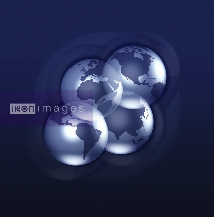 Four globes arranged in grid - Four globes arranged in grid - Jason Jaroslav Cook