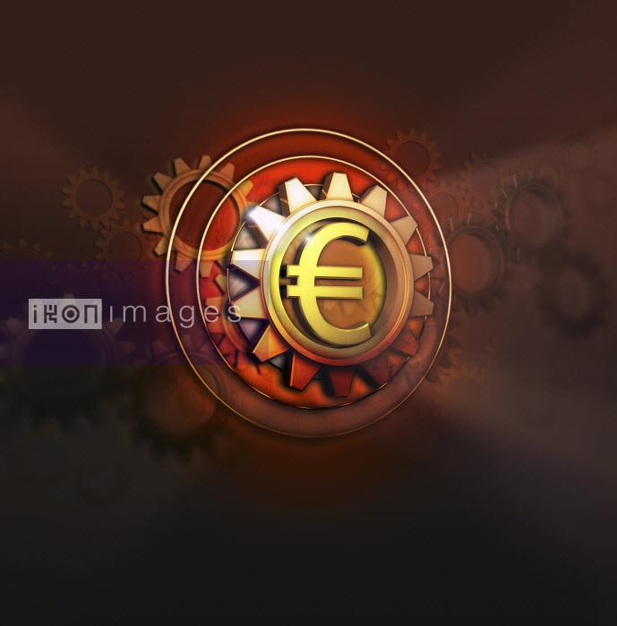 Euro symbol in centre of cog - Euro symbol in centre of cog - Jason Jaroslav Cook