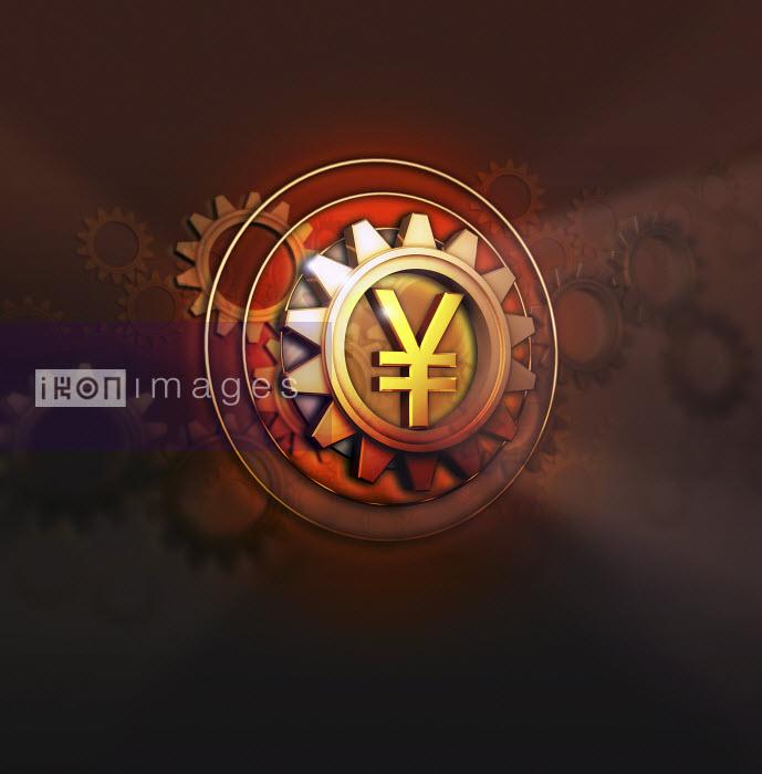 Yen symbol in centre of cog - Yen symbol in centre of cog - Jason Jaroslav Cook