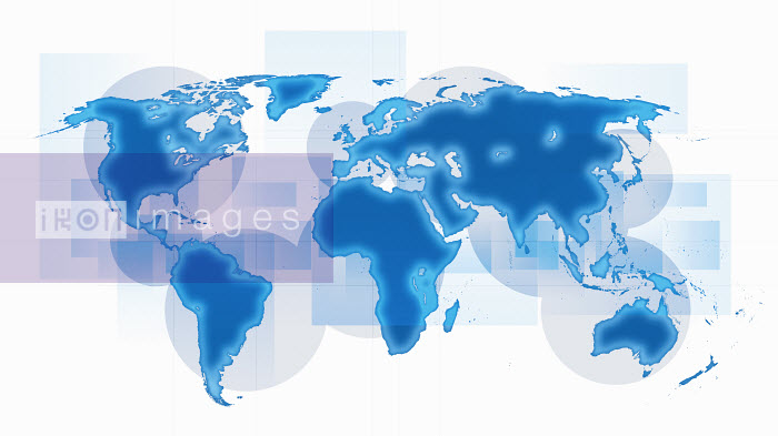 World map with blue continents on white background - World map with blue continents on white background - Jason Jaroslav Cook