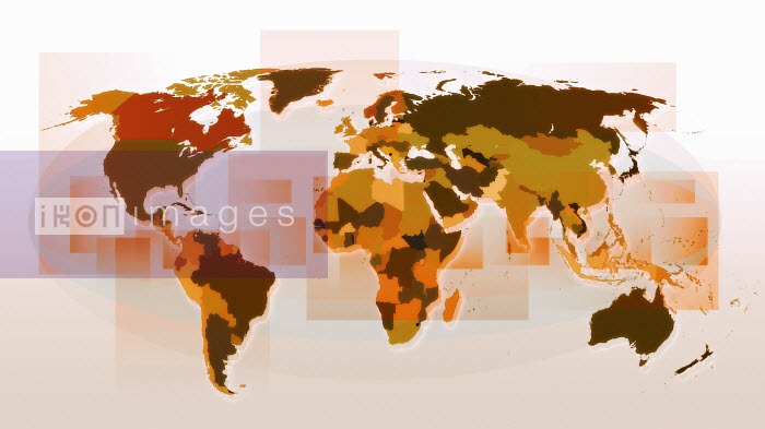 World map with national borders marked - World map with national borders marked - Jason Jaroslav Cook