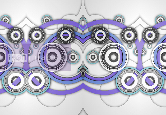 Abstract symmetrical pattern of overlapping concentric circles - Abstract symmetrical pattern of overlapping concentric circles - Jason Jaroslav Cook