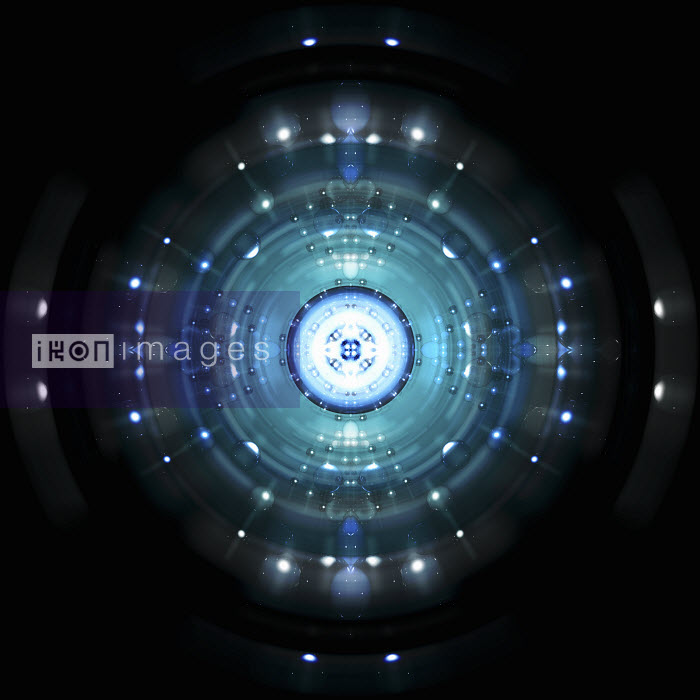 Blue spheres and concentric circles exploding from bright light - Blue spheres and concentric circles exploding from bright light - Jason Jaroslav Cook