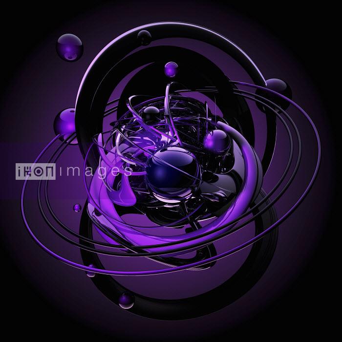 Purple spheres orbiting in chaotic pattern - Purple spheres orbiting in chaotic pattern - Jason Jaroslav Cook