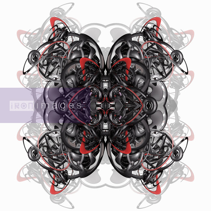 Metallic tangled symmetrical abstract pattern - Metallic tangled symmetrical abstract pattern - Jason Jaroslav Cook