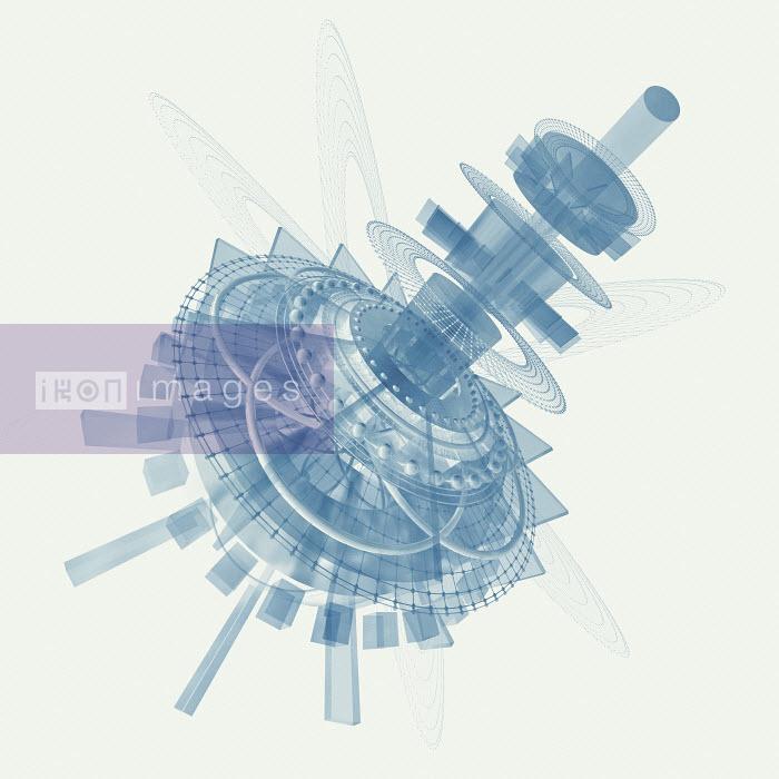 Disassembled high tech futuristic machine - Disassembled high tech futuristic machine - Jason Jaroslav Cook