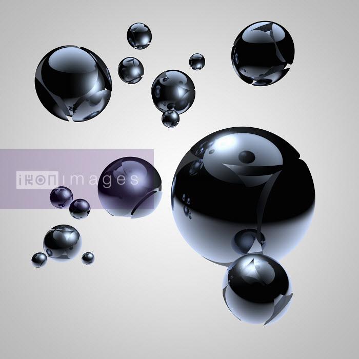 Shiny reflecting floating metal spheres - Shiny reflecting floating metal spheres - Jason Jaroslav Cook