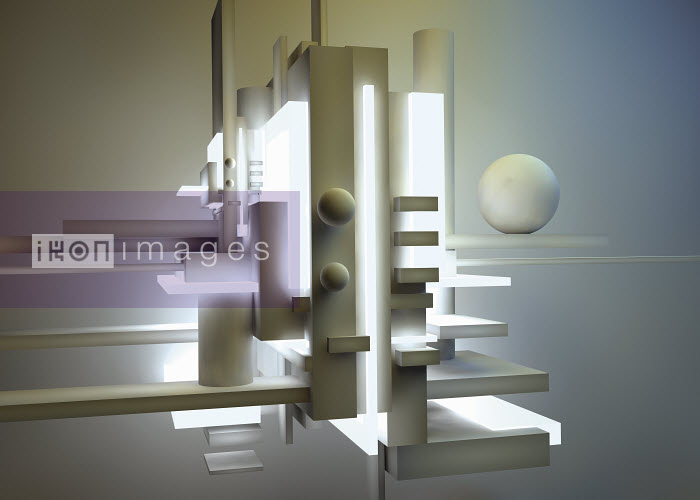 Cream colored abstract three dimensional architectural sculpture - Cream colored abstract three dimensional architectural sculpture - Jason Jaroslav Cook