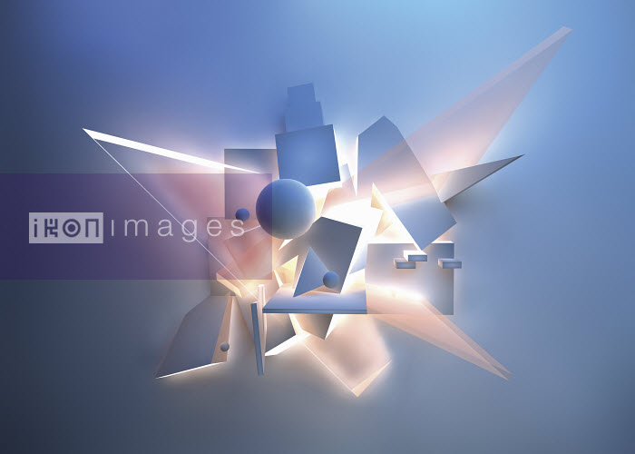 Abstract brightly lit geometric shapes - Abstract brightly lit geometric shapes - Jason Jaroslav Cook