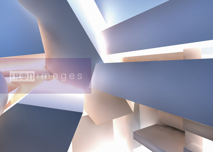 Abstract backgrounds pattern of pile of three dimensional shapes - Abstract backgrounds pattern of pile of three dimensional shapes - Jason Jaroslav Cook