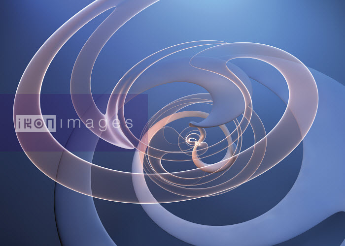 Abstract swirling translucent spiral pattern - Abstract swirling translucent spiral pattern - Jason Jaroslav Cook
