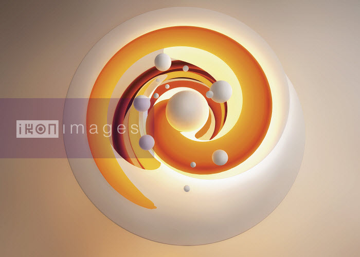 Abstract orange pattern of swirling spiral and spheres - Abstract orange pattern of swirling spiral and spheres - Jason Jaroslav Cook