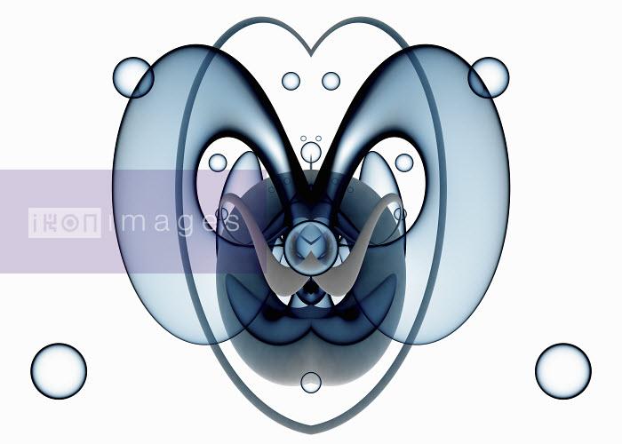Transparent symmetrical blue abstract pattern - Transparent symmetrical blue abstract pattern - Jason Jaroslav Cook