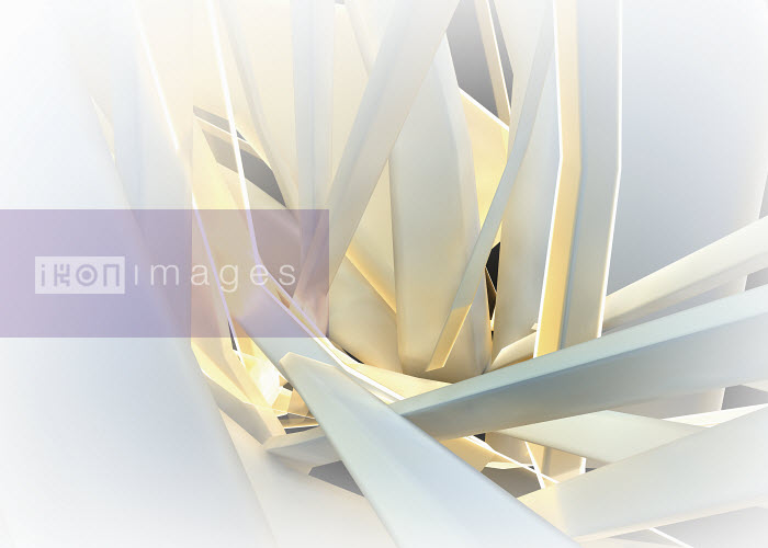 Abstract structure of tangled bent white girders - Abstract structure of tangled bent white girders - Jason Jaroslav Cook