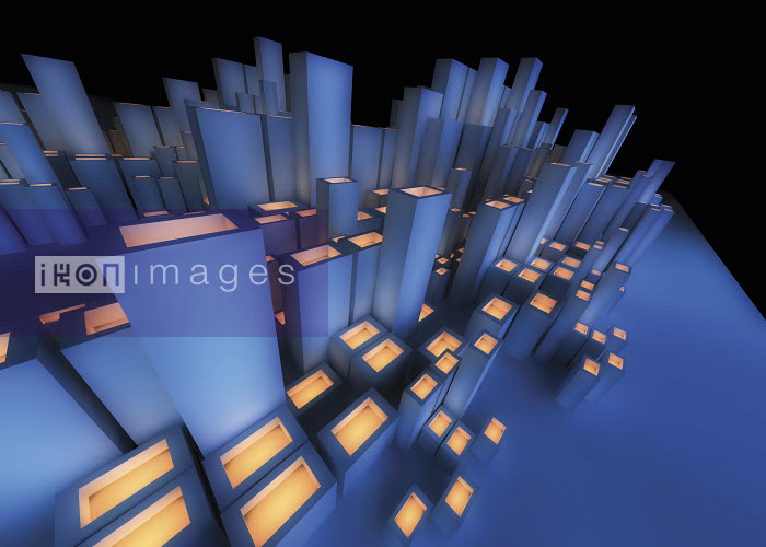 Abstract futuristic city architecture - Abstract futuristic city architecture - Jason Jaroslav Cook