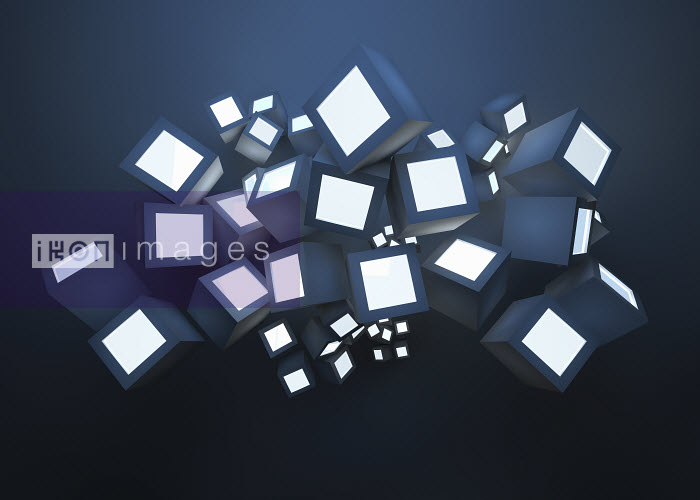 Abstract heap of illuminated cubes - Abstract heap of illuminated cubes - Jason Jaroslav Cook