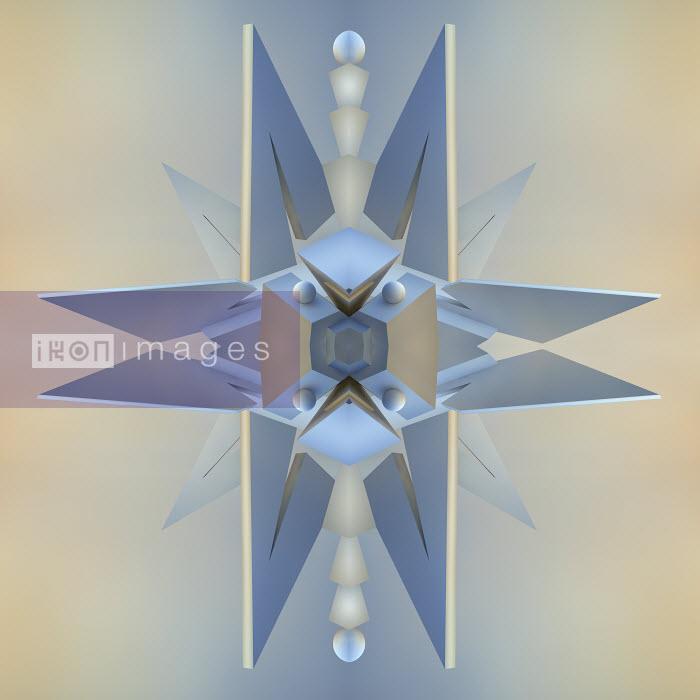 Abstract three dimensional symmetrical spike pattern - Abstract three dimensional symmetrical spike pattern - Jason Jaroslav Cook