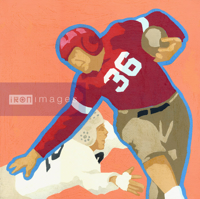 Old-fashioned football players - Old-fashioned football players - Andy Bridge