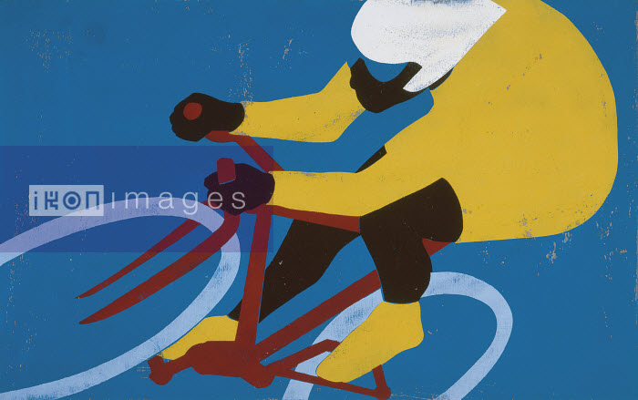 Professional cyclist riding bicycle - Professional cyclist riding bicycle - Andy Bridge