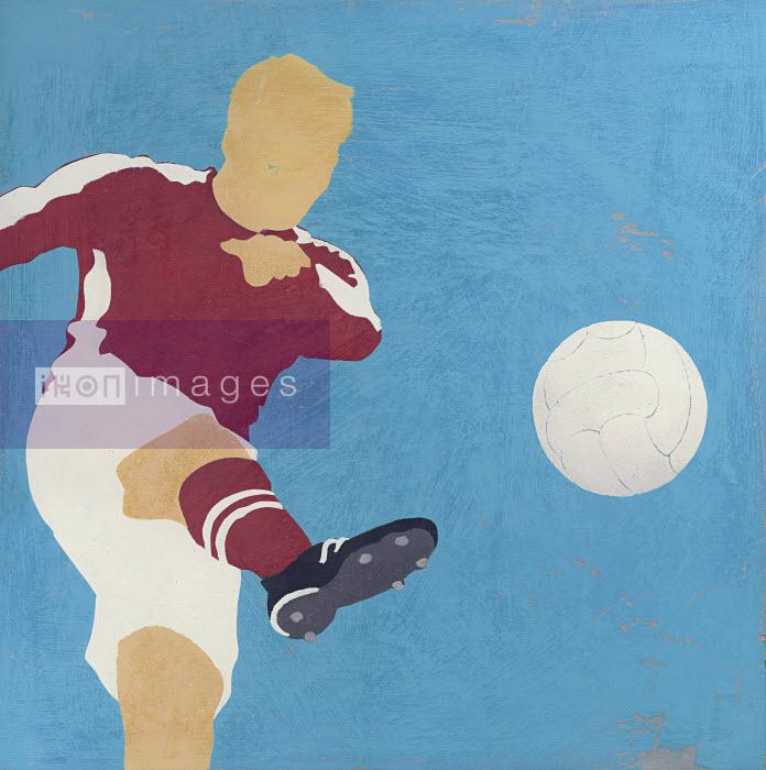 Man kicking soccer ball - Man kicking soccer ball - Andy Bridge