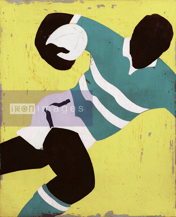 Rugby player running with ball - Rugby player running with ball - Andy Bridge