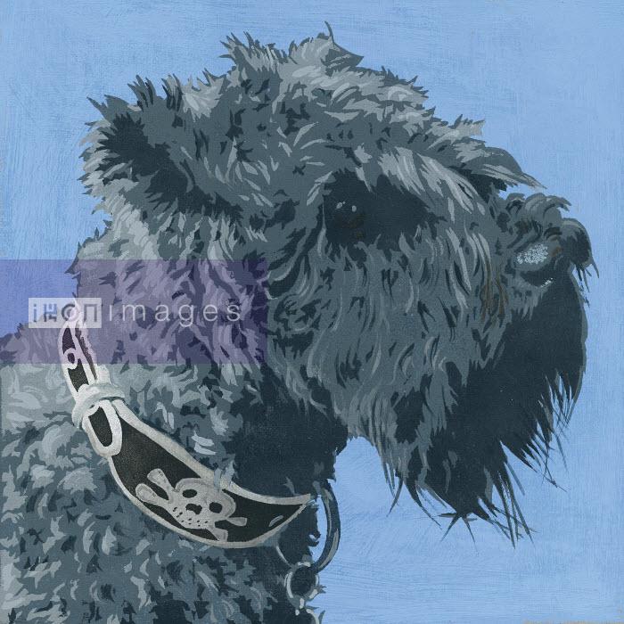 Painting of Scottish Terrier dog - Andy Bridge