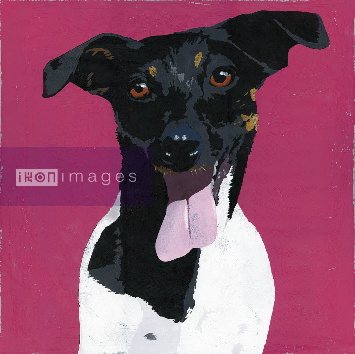 Painting of Jack Russell Terrier dog - Andy Bridge