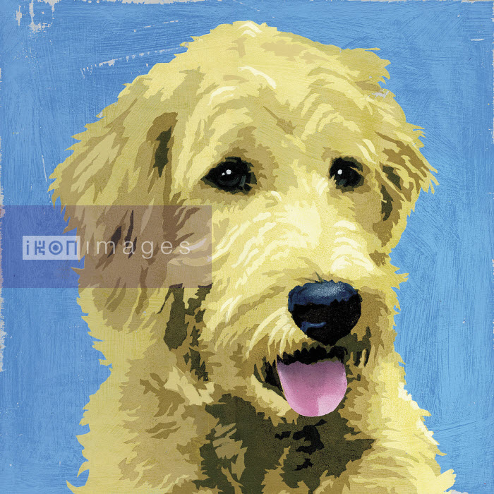 Painting of Wolfhound dog - Andy Bridge