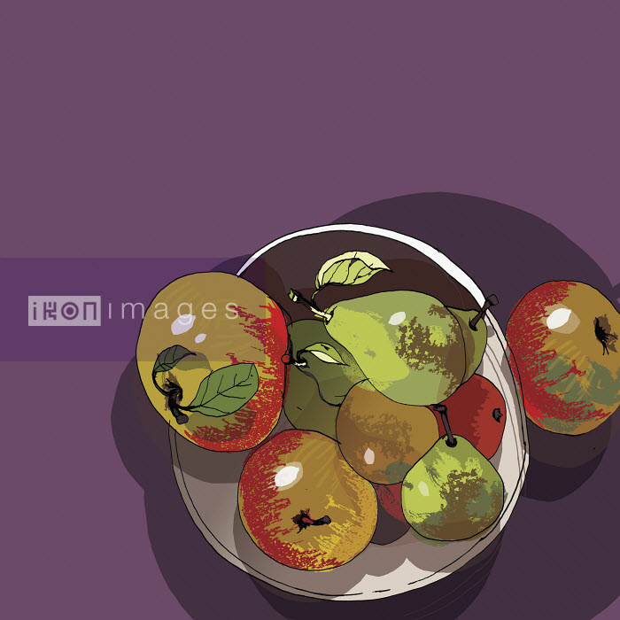 Bowl of apples and pears - Bowl of apples and pears - Patrick Morgan