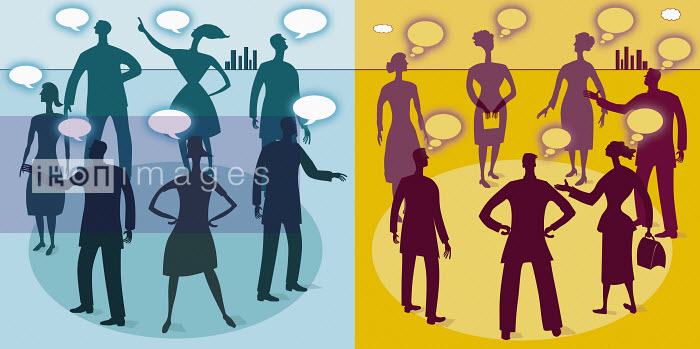 Business people talking and thinking - Business people talking and thinking - Gary Bates