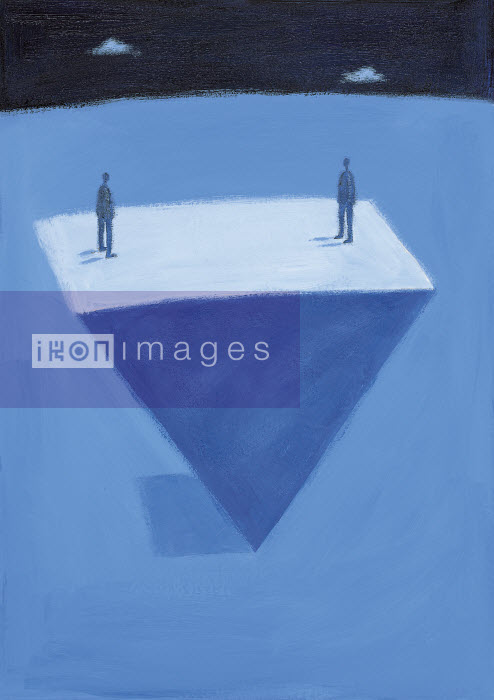 People standing on upside down triangle - People standing on upside down triangle - Gary Bates