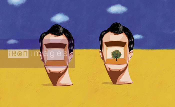 Two heads, one blank and one with tree - Two heads, one blank and one with tree - Gary Bates