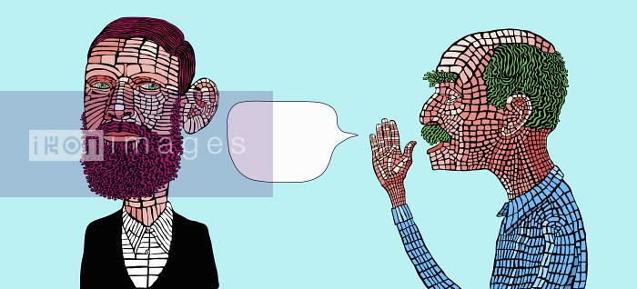 Man whispering confidential information - Gary Bates