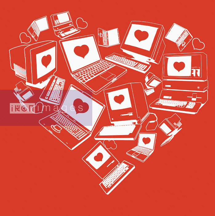 Computers with hearts on screen - Computers with hearts on screen - James Taylor