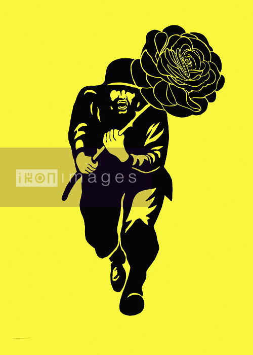 Man running with large rose - Man running with large rose - James Taylor