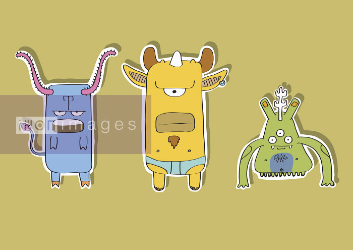 Three alien creatures - Three alien creatures - Oscar Armelles